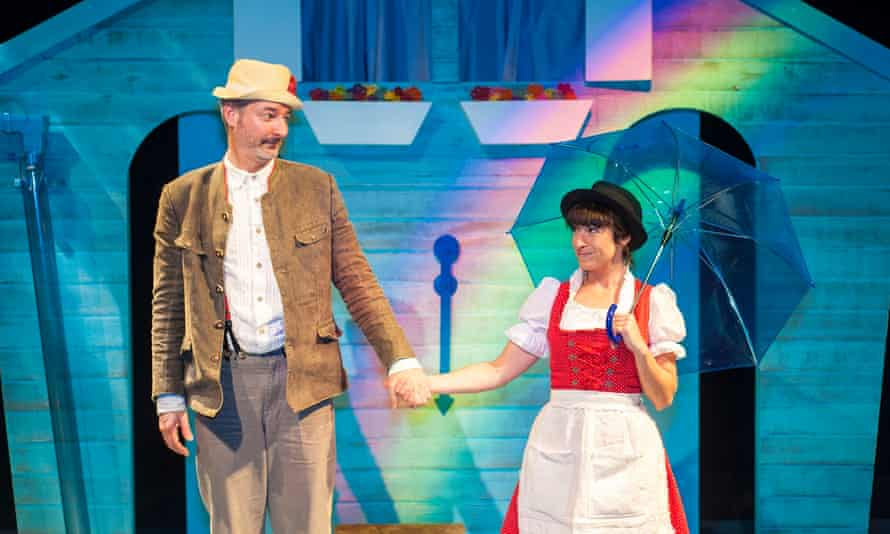 Private theatricals … Carl Cockram as Mr Rain and Simone Lewis as Mrs Sunshine in Whatever the Weather.