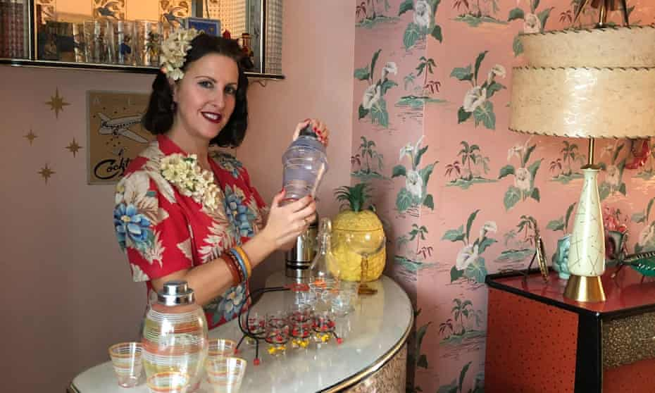 Emma Preston in her 1950s styled home