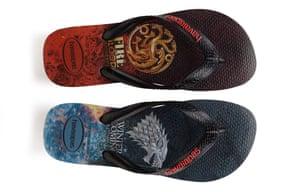 Game of Thrones Stark and Targaryen Havaianas.