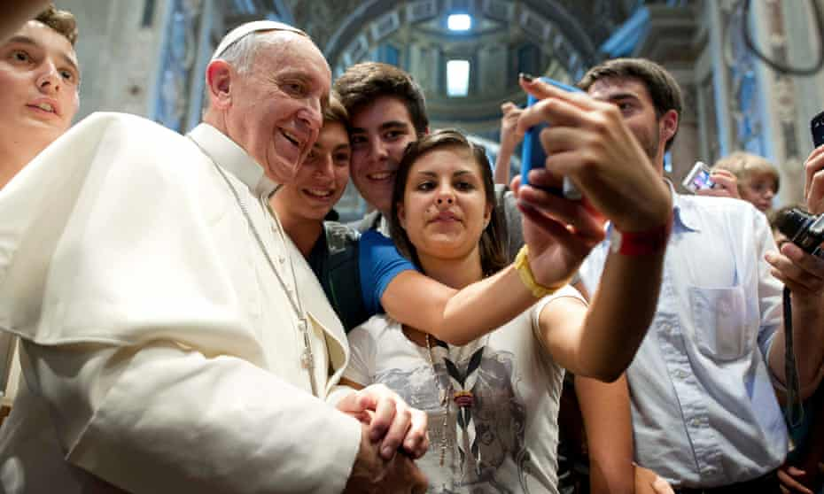 The newly appointed Pope Francis at the Vatican in 2013.
