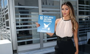 Nicole Scherzinger promotes the 16th of the 17 global goal at the UN.