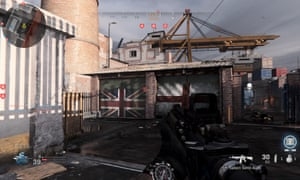 Hackney Yard level with Union flag garage doors.
