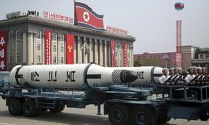 A military parade in Pyongyang, North Korea, in April