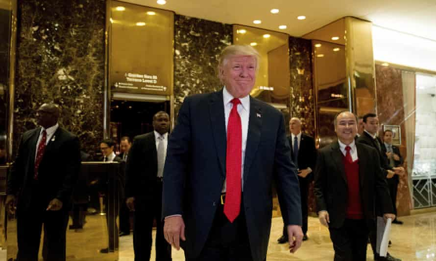 Donald Trump in the lobby of Trump Tower in New York on Tuesday.