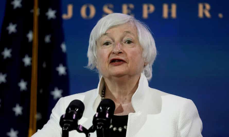 US treasury secretary Janet Yellen in December 2020.