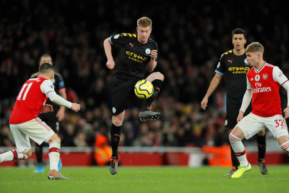 Kevin De Bruyne was in imperious form at the Emirates