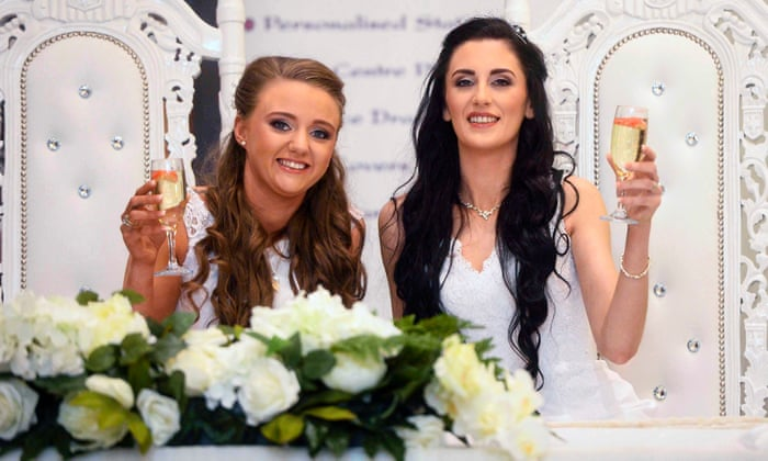 First Same Sex Marriage Takes Place In Northern Ireland Uk News