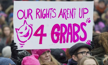 A sign held up during the Women's March in Canada
