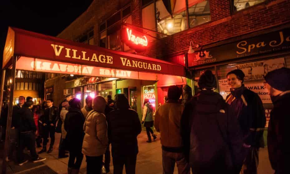 Fans outside the Village Vanguard, Greenwich Village, New York.