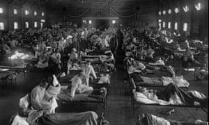 Flu victims at Fort Riley, Kansas in 1918.