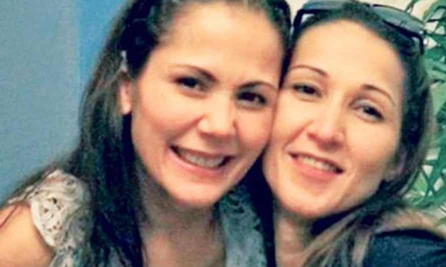 Maria Moynihan (right) with her film actor sister Maritoni Fernandez