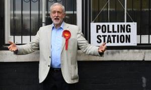 Jeremy Corbyn leaves after voting on Thursday