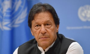 Imran Khan, the Pakistan PM, speaks to the media in New York where he said: 'We are heading for a potential disaster of proportions that no one here realises.'