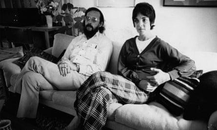 Heart of loss: Jon Kushner's parents sitting on a sofa looking sad.