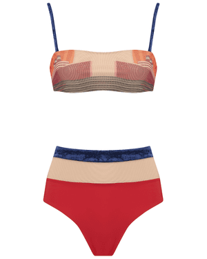 Bathing beauties Inspired by David Hockney's pool paintings and Lichtenstein's pop art, Five PM Swim's bikinis are making a splash. Top, £56, and bottoms, £65, fivepmswim.com