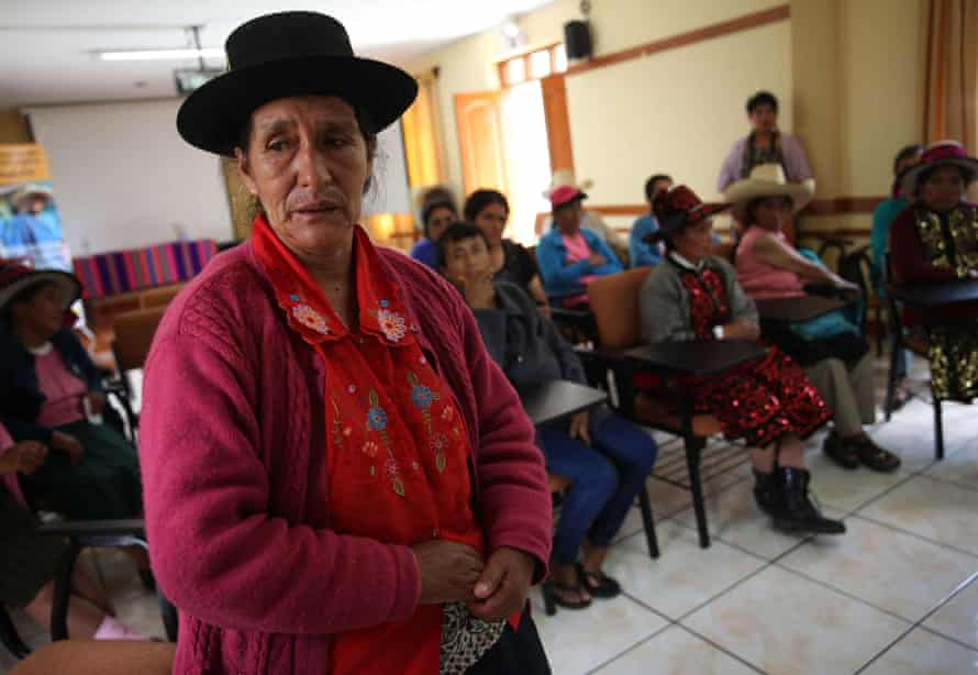 A woman who was sterilised tells her story during a meeting in Lima, December 2015, to seek justice and reparation from the Peruvian government.