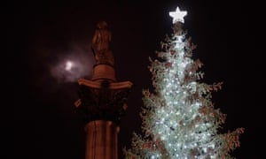 The Christmas tree in Trafalgar Square
