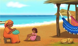 A scene from the Ancient Wisdom smartphone games, which allow players to learn about Colombia's indigenous peoples.