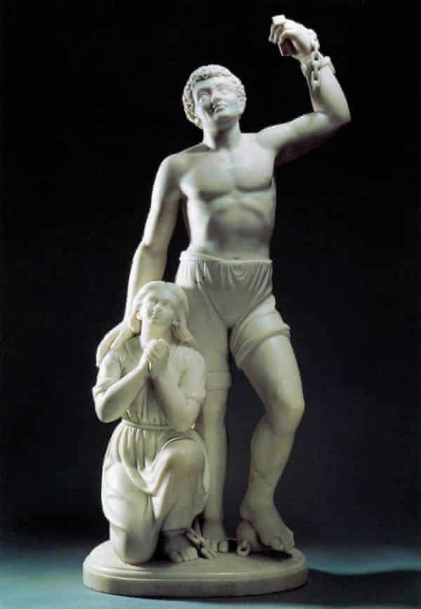 Forever Free.' Marble sculpture by Edmonia Lewis, 1867