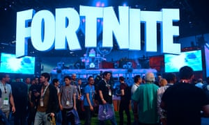 The Fortnite stand at the 2018 E3 video game conference in Los Angeles