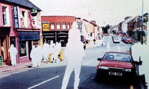 A photo issued by police shows the car believed to have carried the bomb that detonated in Omagh, Northern Ireland, on 15 August 1998.