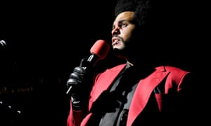 The Weeknd performing at the MTV Video Music awards, 30 August 2020.