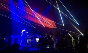 Charles Hazlewood conducts Glass's Heroes Symphony at 2016's Glastonbury festival.