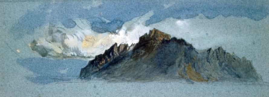 Mount Pilatus, 1854, by John Ruskin, watercolour.