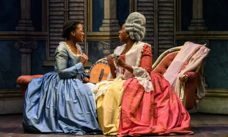 English Touring Opera presents The Marriage of Figaro, by Wolfgang Amadeus Mozart, at the Hackney Empire, directed by Blanche McIntryre, conducted by Christopher Stark.