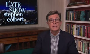 """Stephen Colbert: New York Gov. Andrew Cuomo has """"projected an air of much-needed competence during the epidemic, and the people. Are. There. For. It."""""""