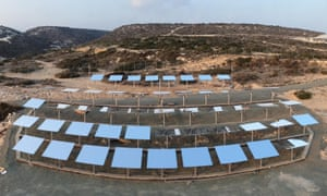 Scientists from CSIRO (Australia's national science agency) have designed and installed a solar field in Cyprus which places the island nation at the frontier of solar energy research in Europe. The solar thermal field lies in Pentakomo, on the southern coast of Cyprus. Photo made available by CSIRO.