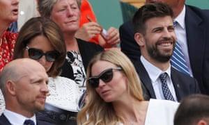 Gerard Pique at Wimbledon on Wednesday.