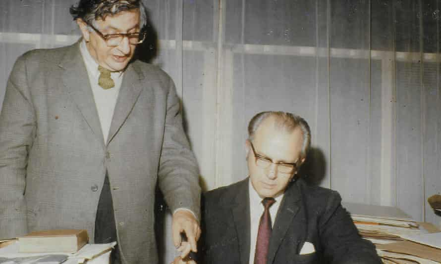 in 1974, Basil Ramsey, right, set up a publishing company with his friend Bernard Herrmann, left, who was a renowned American film composer