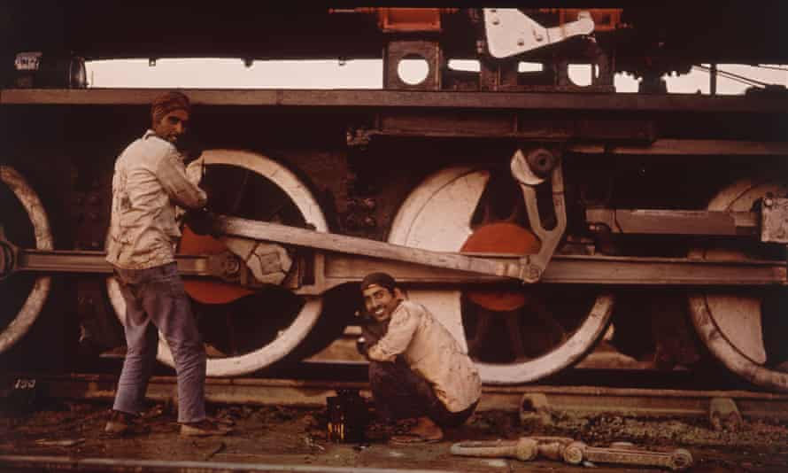 Grease Monkeys From the Indian Railways series, 1977.