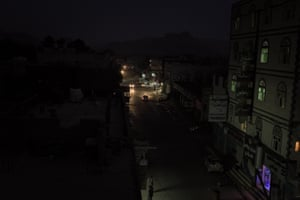 Sa'ada is cloaked in darkness at night