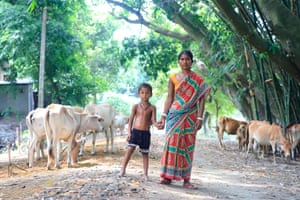 Villagers bring their cattle for consultation with World Animal Protection vets