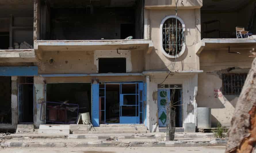 Ruined buildings in Palmyra