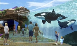 Artist's rendering of Sea World's new proposed killer whale habitat expansion project in San Diego.<br>