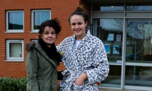 Connie, who has a niece at the school, wore a dressing gown and slippers in protest at the letter from the headteacher.