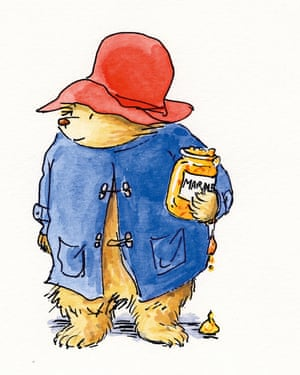 Paddington Bear as envisioned by Peggy Fortnum.