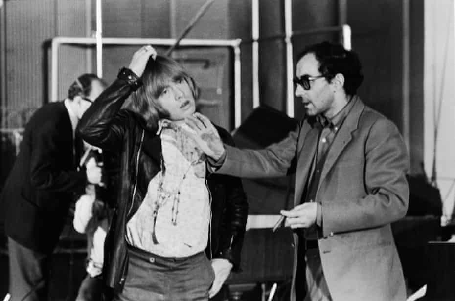 Jean-Luc Godard (right) directs Brian Jones during the shooting of One Plus One.