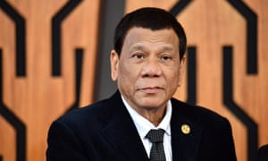 Rodrigo Duterte, pictured at the Apec summit in Papua New Guinea in November 2018, is responsible for the country's tough stance on drugs, resulting in the deaths of more than 5,000 people.