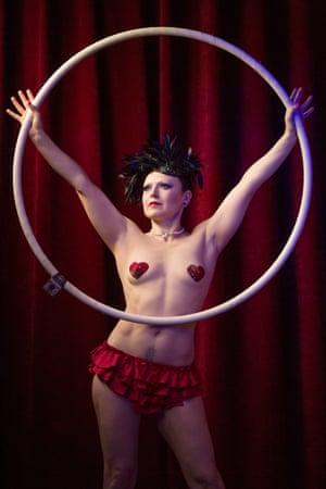 Empress Stah, aerial artist and cabaret theatre performer, has performed with Le Haggis for four years