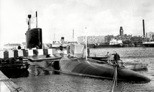 HMS Resolution, launched in 1966, was the first of the Royal Navy's ballistic missile submarines