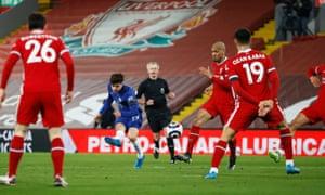 Mason Mount opens the scoring for Chelsea