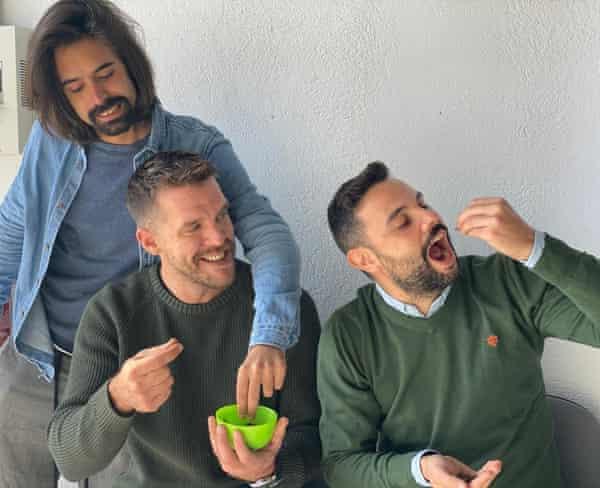 From left: Andrés García de Lis, José Antonio Torres and Francisco José Tébar