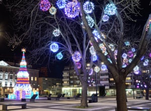 Deck the trees: Wroclaw's old town sparkles in December.