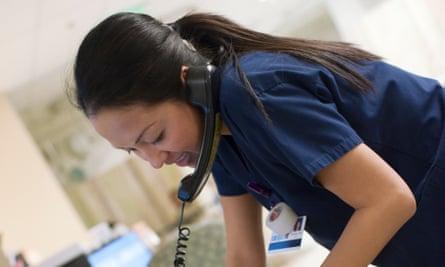 Nurse on telephone