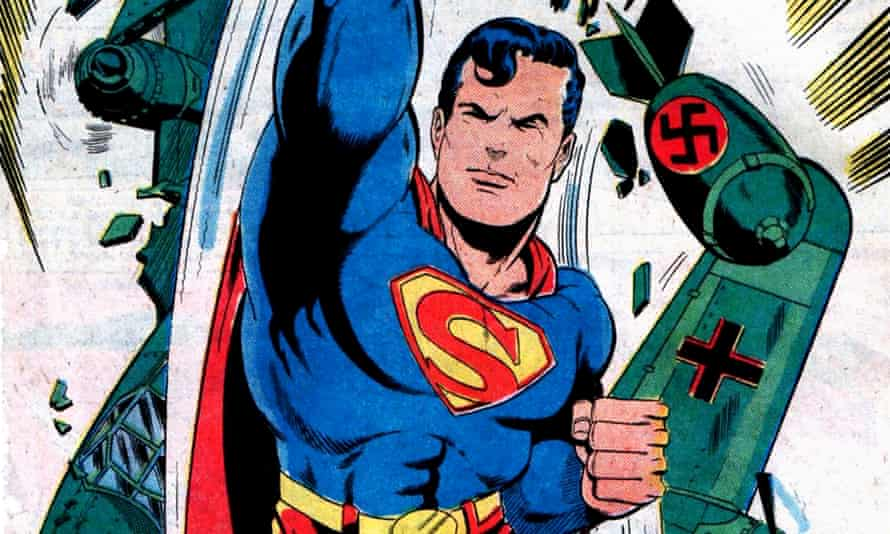 A 1977 reprise of Superman's fight with the Nazis, inspired by his creators.