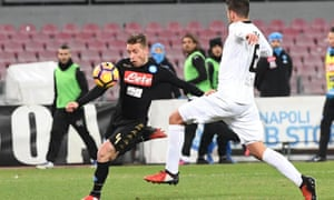 Emanuele Giaccherini has only made two league appearances for Napoli since joining last summer.